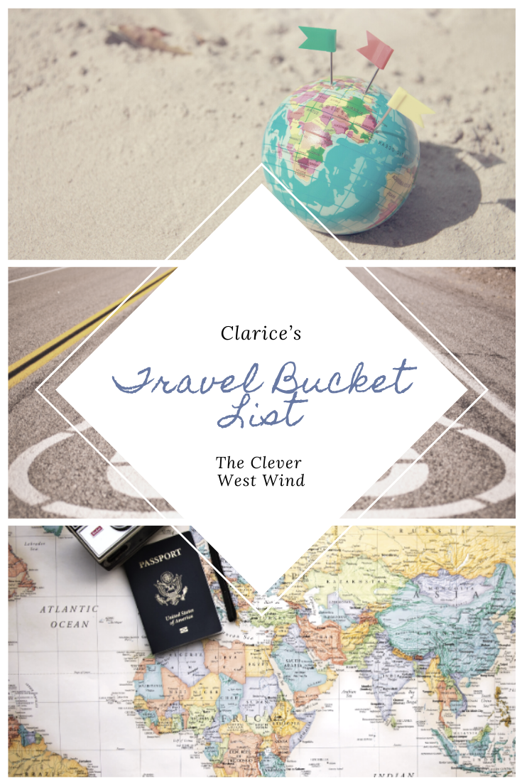 Clarice's Travel Bucket List
